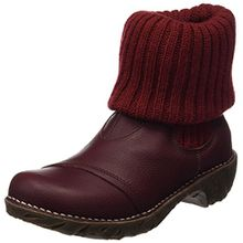 El Naturalista S.A N097 Soft Grain Yggdrasil, Damen Kurzschaft Stiefel, Rot (Rioja), 40 EU