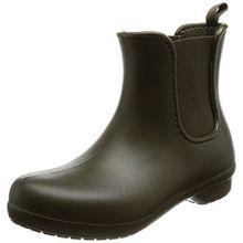 crocs Freesail Chelsea Boot Women, Damen Gummistiefel, Grün (Dark Camo Green), 34/35 EU