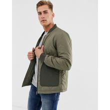 Selected Homme – Steppjacke in Khaki mit aufgesetzten Taschen-Grün