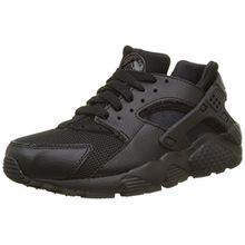 Nike Jungen Huarache Run GS 654275-016 Sneaker, Schwarz (016 Black/Black-Black), 36 EU