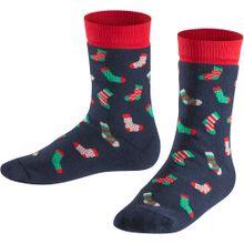 FALKE Socken navy / mint / hellrot