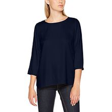 TOM TAILOR Denim Damen Bluse Comfortable Soft Tunic, Blau (Real Navy Blue 6593), 42 (Herstellergröße: XL)