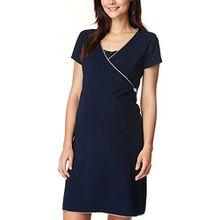 Noppies Damen Umstandsnachthemd Dress Nurs Ss Kimm 66610, Mehrfarbig (Dark Blue C165), 34 (Herstellergröße: XS)