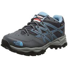 The North Face Unisex-Kinder Hedgehog Hiker Waterproof Trekking-& Wanderhalbschuhe, Mehrfarbig (Zinc Grey/Blizzard Blue), 32 EU