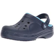 crocs Winter Clog Kids, Unisex - Kinder Clogs, Blau (Navy/Electric Blue), 22/24 EU