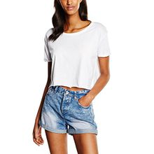 Urban Classics Damen T-Shirt Ladies Short Tee, Weiß (White 220), X-Small