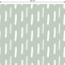 "Mustertapete ""Pinselstriche"" 10,08 m x 0,48 m grün"