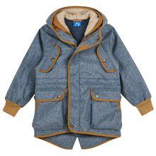 Finkid - Kid's Kaveri - Doppeljacke Gr 110/120;120/130;130/140 grau/blau