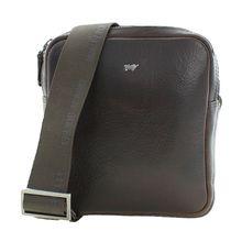Braun Büffel Umhängetasche PARMA in elegantem Design Handtaschen dunkelbraun Herren