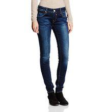 Herrlicher Damen Slim Jeanshose Touch Denim Powerstretch, Gr. W27/L32 (Herstellergröße: 27), Blau (clean 051)