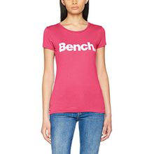 Bench Damen T-Shirt Slim Logo Tee, Rosa (Cabaret Pk11397), Small (Herstellergröße: S)