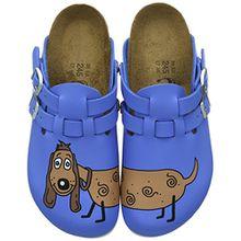 BIRKENSTOCK Classic Kay Birko-Flor, Damen Clogs, Blau (Dog Blue), 41 EU