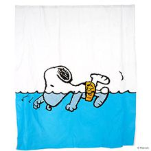 Butlers PEANUTS Duschvorhang Snoopy schwimmend- Spritzschutz - EVA, Polyethylen - 180 x 200 cm