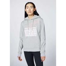 CHIEMSEE Sweatshirt mit Kapuze und großem Frontprint grau Damen