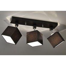 Designer Decken-Leuchte Lampe Retro Spot Strahler E27 New York 10 (Sockelfarbe: Wenge)