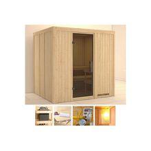 KONIFERA Sauna »Sanna«, 196x170x198 cm, ohne Ofen, Glastür graphit