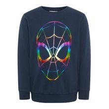 NAME IT Sweatshirt 'Spiderman' kobaltblau / mischfarben
