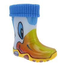 GALLUX Kinder Regenstiefel mit Innenschuhen Ente (Stormer Lux yellow) EU 28-29