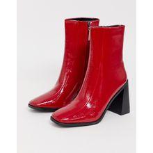 RAID - Kiaya - Rot lackierte Stiefel mit eckiger Zehenspitze - Rot