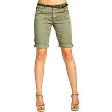 CASPAR BST005 Damen Baumwoll Chino Shorts, Farbe:oliv grün;Größe:36 S UK8 US6