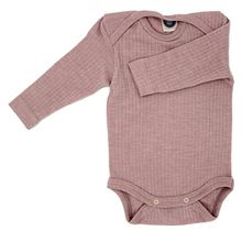 Cosilana Baby Body, Spezial Qualität 45% kbA Baumwolle, 35% kbT Wolle, 20% Seide, Farbe Pink meliert, Größe 98/104