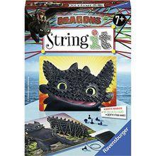 2er-Set Faden-Bild String it Mini, 16x22 cm, Dragons