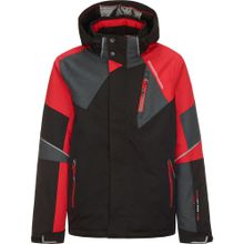 KILLTEC Skijacke 'Marshal' rot / schwarz / schwarzmeliert