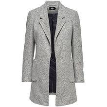 Only Damen Mantel onlBaker Marble Long Blazer 15136316, Größe:M, Farbe:Hellgrau