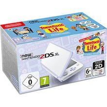 New Nintendo 2DS XL Konsole Weiß + Lavendel inkl. Tomodachi Life weiß-kombi