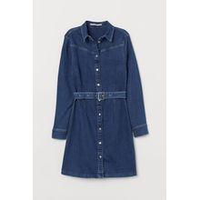 H & M - Kurzes Jeanskleid - Blue - Damen