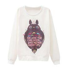 Mädchen Schöne Totoro Hoodie Kinder Brief Bequeme Sweatshirt Pullover