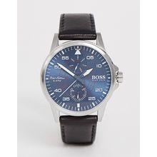 Hugo Boss - Piloten-Armbanduhr für Herren mit blauem Zifferblatt - Schwarz