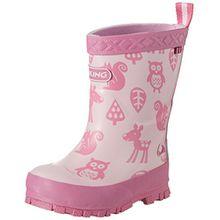 Viking Unisex-Kinder Eventyr Gummistiefel, Pink (Pink/Multi), 22 EU