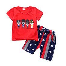 Blaward Kindern Baby Jungen Outfits Sommer Kleidung Anzug Baumwolle Cartoon Kurzarm + Pentagramm Kurze Hosen 2 STÜCKE für Baby Kinder