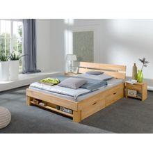 Relita Bettregal JULIA 140 cm breite Betten, Kernbuche massiv, geölt holzfarben  Kinder