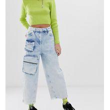 COLLUSION – x012 – Jeans mit Ballon-Schnitt und Utility-Taschen-Blau