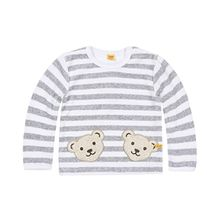 Steiff Unisex - Baby, Sweatshirt, 0002891 Sweatshirt 1/1 Sleeves, Grau (Softgrey melange 8200), Neugeboren (Herstellergröße:50)