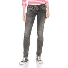 Herrlicher Damen Jeans Pitch Slim, Schwarz (Secrethy 728), W29/L32 (Herstellergröße: 29)