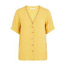 PIECES Blusenshirt gelb / weiß