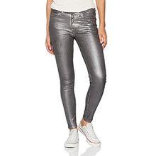 Tigha Damen Skinny Jeans Ania silver, Grau (Silver Coated 00143), 40 (Herstellergröße: 29)