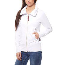 Fiat Professional Jacke Damen Sweatshirt-Jacke Pullover-Jacke Weiß Regular, Größenauswahl:S