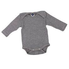 Cosilana Baby Body 1/1 Arm, Größe 62/68, Farbe Grau Meliert - Qualität 91 45% Baumwolle kbA, 35% Schurwolle kbT, 20% Seide