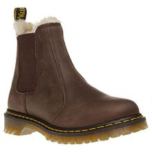 Dr. Martens LEONORE Burn. Wyoming Damen Chelsea Boots, Braun, *