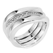 JETTE Designerschmuck Ring 13 Zirkonia Silber rhodiniert