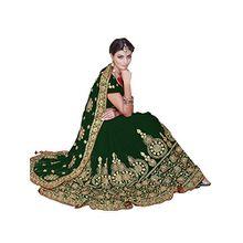 Women's Heavy Embroidery Work Designer Sari mit Ungesteckt Bluse/Top Mirchi Fashion Bridal Wedding saree