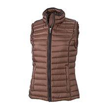James & Nicholson Damen Jacke Weste Ladies Quilted Vest rot (Coffee/Black) X-Large