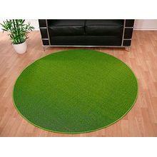 Sisal Natur Teppich Dekowe Grün Rund in 7 Größen, Größe:100 cm Rund