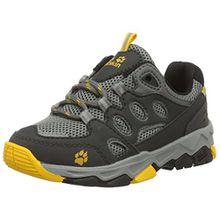 Jack Wolfskin Unisex-Kinder MTN Attack 2 Low K Trekking-& Wanderhalbschuhe, Grau (Burly Yellow), 38 EU