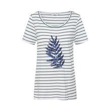 ONLY Shirt 'KITA BUTTERFLY LEAF' grün / weiß