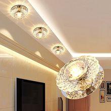 ICTRONIX 3W LED Modern Deckenleuchte Kristall Deckenlampe Wandlampe Flurlampe Leuchte Deckenstrahler Warm weiß 10 cm * 4 cm